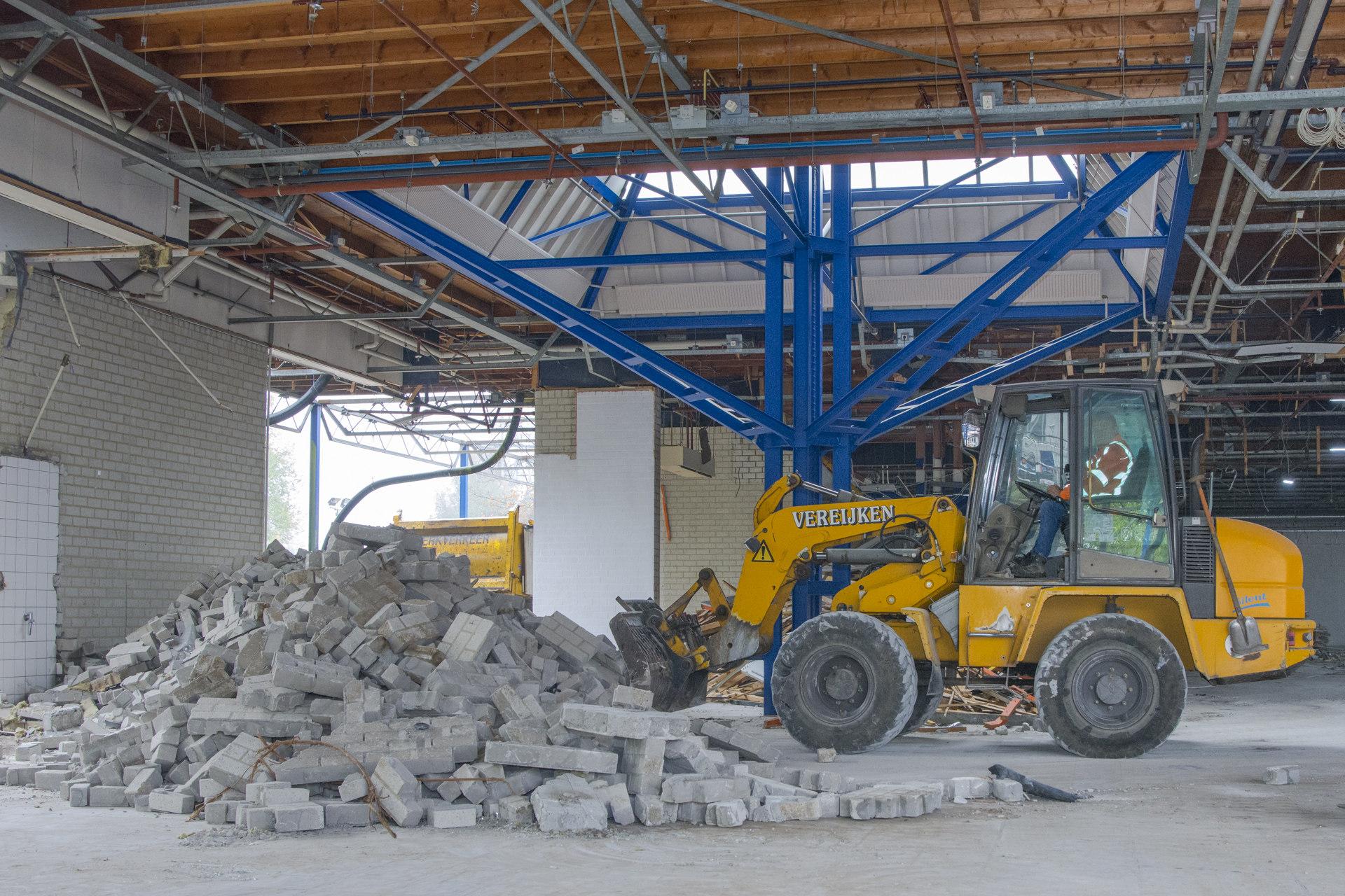 Verbouwing van het Karregat. Sloop week 3.