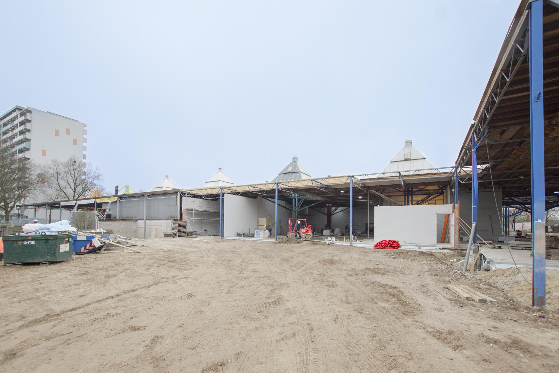 Verbouwing van het Karregat. Nieuwbouw week 4.