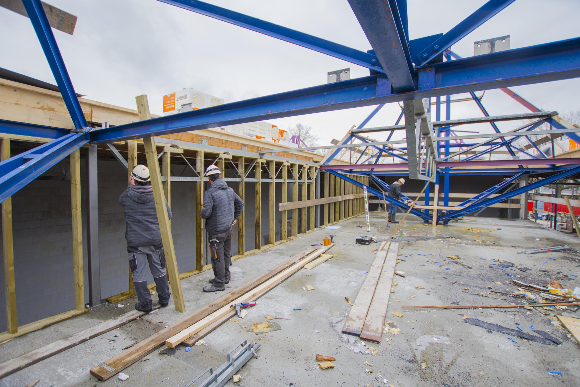 Verbouwing van het Karregat. Nieuwbouw week 8.