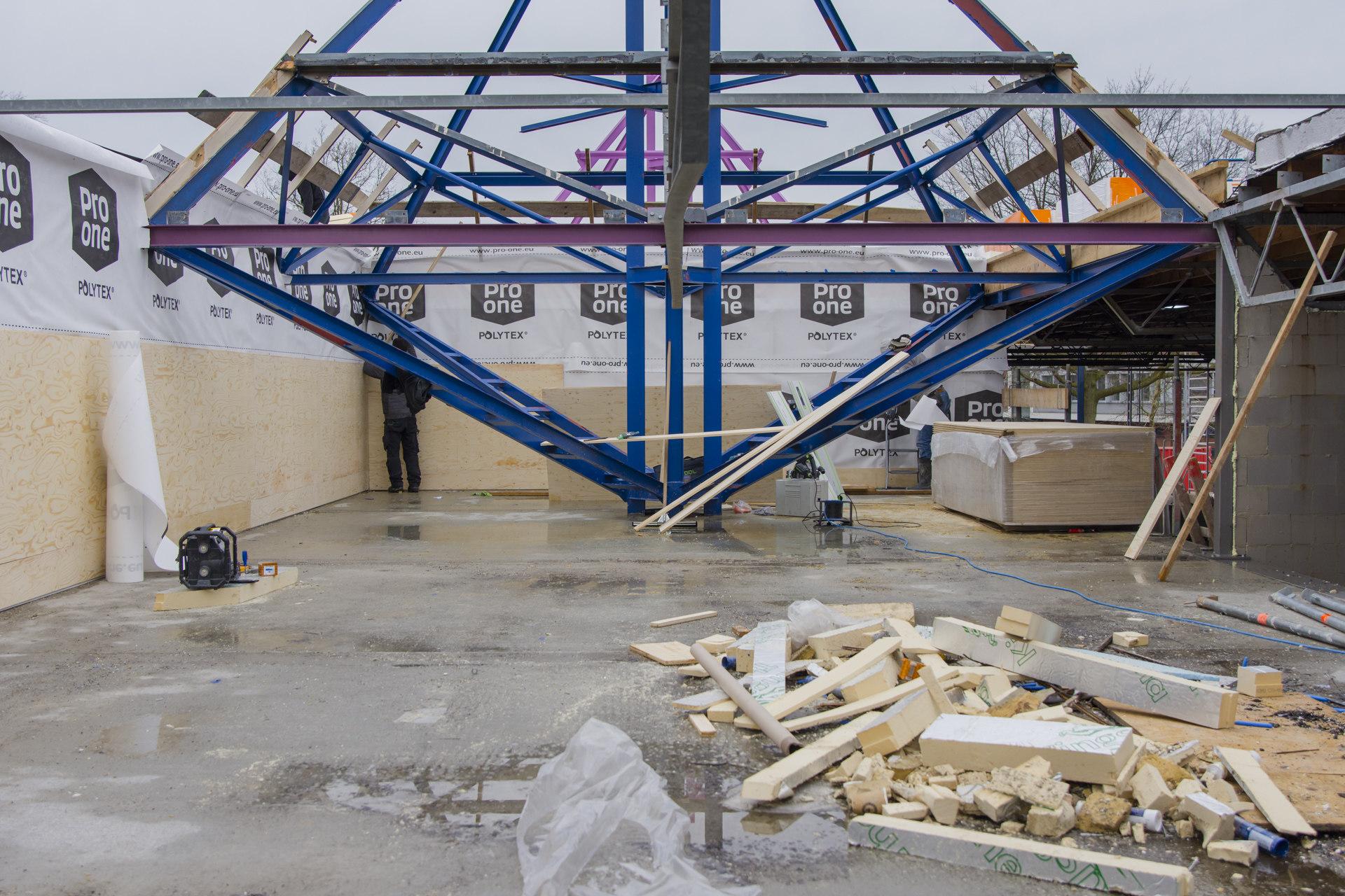 Verbouwing van het Karregat. Nieuwbouw week 9.