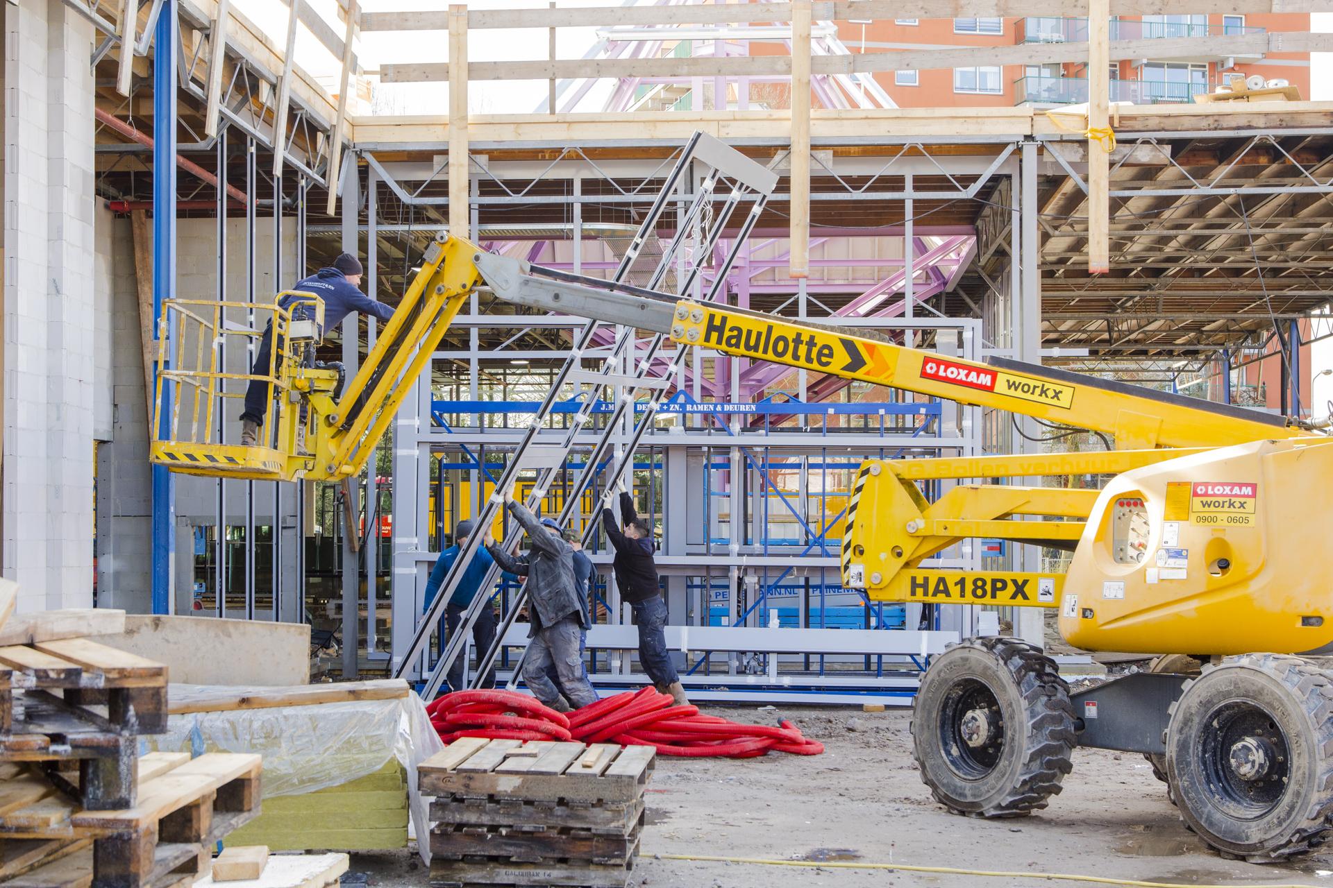 Verbouwing van het Karregat. Nieuwbouw week 11.
