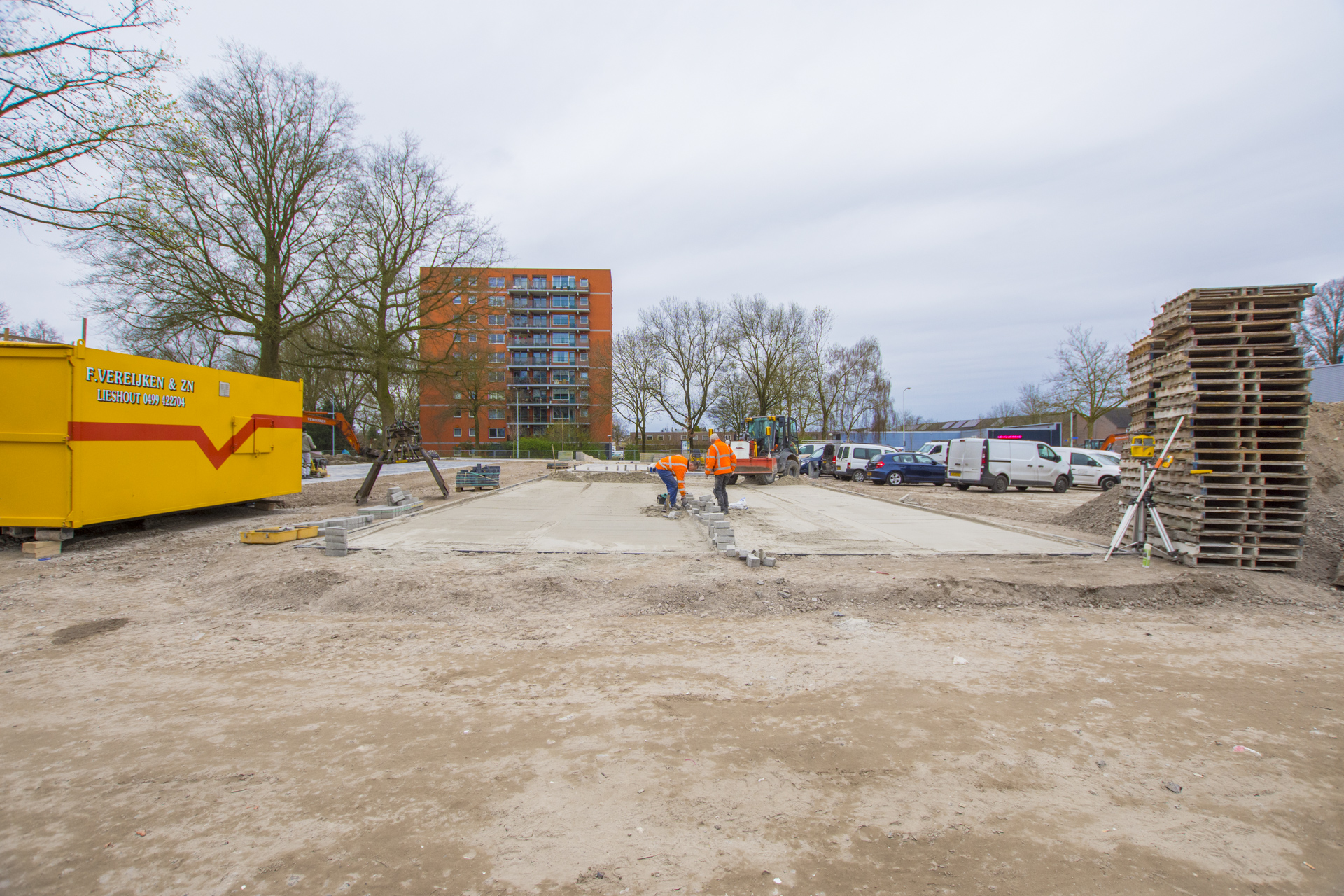 Verbouwing van het Karregat. Nieuwbouw week 12.