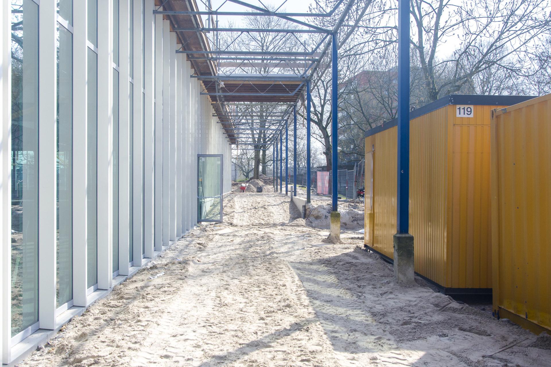 Verbouwing van het Karregat. Nieuwbouw week 13.
