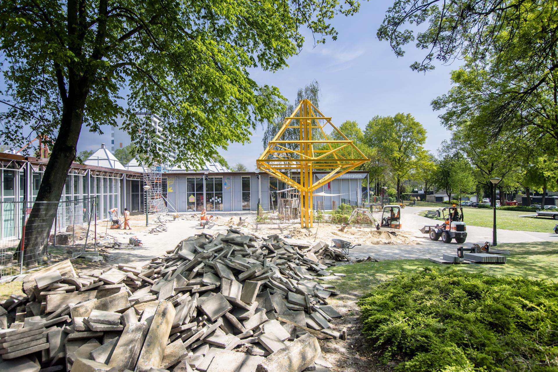 Verbouwing van het Karregat. Nieuwbouw week 17.