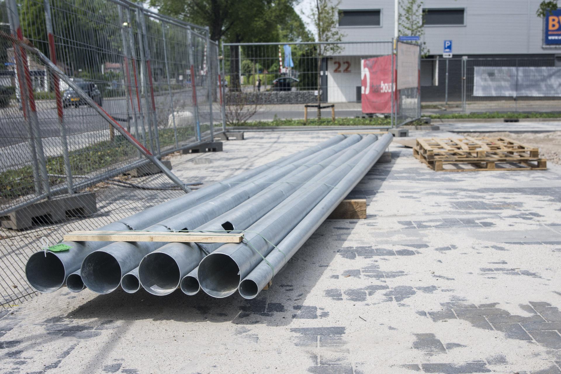 Verbouwing van het Karregat. Nieuwbouw week 19.